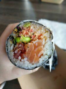 sushi burrito snack pranzo